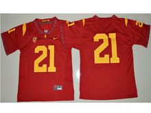 Mens Ncaa Nfl Usc Trojans #21 Adoree' Jackson Red Jersey