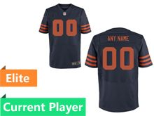 Mens Chicago Bears Blue Alternate Elite Current Player Jersey
