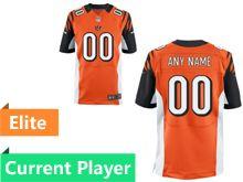 Mens Cincinnati Bengals Orange Elite Current Player Jersey