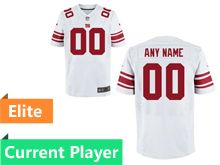 Mens New York Giants White Elite Current Player Jersey