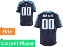 Mens Tennessee Titans Navy Blue Elite Current Player Jersey