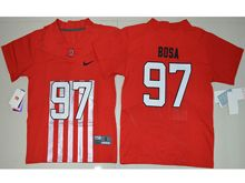 Youth Ncaa Nfl Ohio State Buckeyes #97 Nick Bosa Red Alternate Elite Jersey