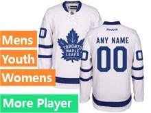 Mens Women Youth Reebok Toronto Maple Leafs Royal White Away 2016 Premier Current Player Jersey