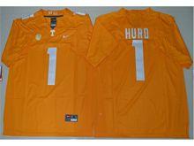 Mens Ncaa Nfl Tennessee Volunteers #1 Jalen Hurd Orange Limited Jersey