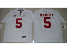 Mens Ncaa Nfl Stanford Cardinal #5 Christian Mccaffrey White Jersey