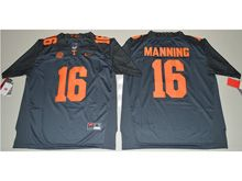 Mens Ncaa Nfl Tennessee Volunteers #16 Peyton Manning Gray Limited Jersey