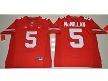Mens Ncaa Nfl Ohio State Buckeyes #5 Raekwon Mcmillan Red Jersey