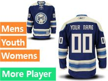 Mens Women Youth Reebok Columbus Blue Jackets Navy Blue Alternate Premier Current Player Jersey