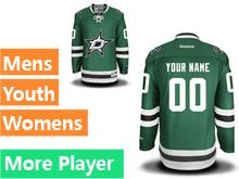 Mens Women Youth Reebok Dallas Stars Green Home Premier Current Player Jersey