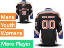 Mens Women Youth Reebok New York Islanders Black Alternate Premier Current Player Jersey