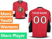 Mens Women Youth Reebok Ottawa Senators Red Home Premier Current Player Jersey