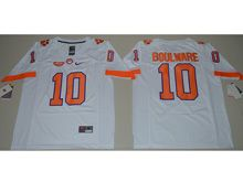 Mens Ncaa Nfl Clemson Tigers #10 Ben Boulware White Limited Jersey
