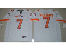 Mens Ncaa Nfl Clemson Tigers Custom Made White Limited Jersey