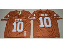 Mens Ncaa Nfl Texas Longhorns #10 Vince Young Orange Jersey