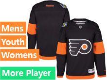 Mens Women Youth Reebok Philadelphia Flyers Black 2017 Stadium Series Current Player Jersey
