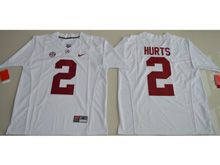 Mens Ncaa Nfl Alabama Crimson Tide #2 Jalen Hurts White Limited Jersey