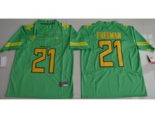 Mens Ncaa Nfl Oregon Ducks #21 Royce Freeman Green Color Rush Limited Jersey