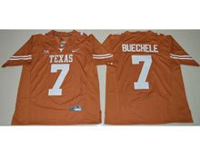 Mens Ncaa Nfl Texas Longhorns #7 Shane Buechele Orange Limited Jersey