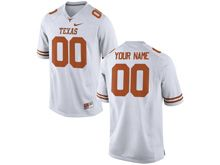 Mens Ncaa Nfl Texas Longhorns (custom Made) White Limited Jersey