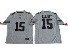 Mens Ncaa Nfl Ohio State Buckeyes #15 Ezekiel Elliott Gridion Grey Ii Jersey