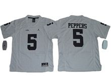 Youth Ncaa Nfl Jordan Brand Michigan Wolverines #5 Jabrill Peppers Gridion Grey Ii Jersey