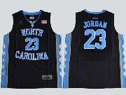 Mens Ncaa Nba North Carolina #23 Jordan Black Jersey