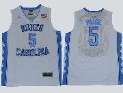 Mens Ncaa Nba North Carolina #5 Paige White Jersey