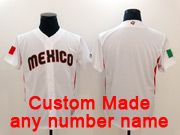 Mens Mlb Mexico Team 2017 Baseball World Cup Custom Made White Jersey
