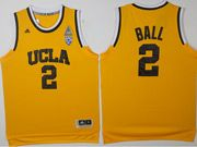 Mens Ncaa Nba Ucla Bruins Custom Made Yellow College Basketball Authentic Jersey