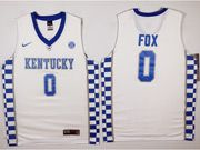 Mens Ncaa Nba Kentucky Wildcats Custom Made White College Basketball Jersey