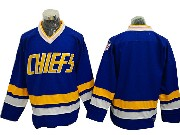 Mens Slap Shot Charlestown Chiefs Blank Blue Movie Ice Hockey Jersey