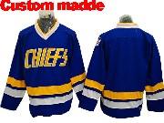 Slap Shot Charlestown Chiefs (custom Made) Blue Movie Ice Hockey Jersey