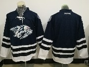 Nhl Nashville Predators Custom Made Dark Blue Reebok Jersey