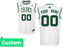 Mens Women Youth Nba Boston Celtics Custom Made Celtics White Jersey