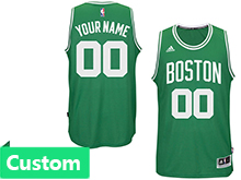 Mens Women Youth Nba Boston Celtics Custom Made Boston Green Jersey