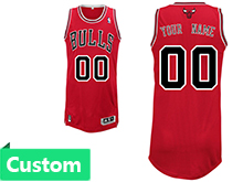 Mens Women Youth Nba Chicago Bulls (custom Made) Red Revolution 30 Mesh Jersey
