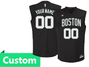 Mens Women Youth Nba Boston Celtics Custom Made Boston Black Jersey