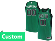 Mens Women Youth Nba Boston Celtics Custom Made Green Black Number Jersey