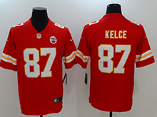 Mens Women Youth Nfl Kansas City Chiefs #87 Travis Kelce Red Vapor Untouchable Limited Player Jersey
