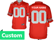 Mens Women Youth Ncaa Nfl Ohio State Buckeyes Custom Made Red Limited Star Back Jersey