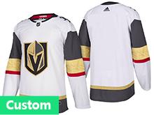 Mens Women Youth Vegas Golden Knights Custom Made White Hockey Adidas Jersey