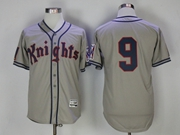 Mens Mlb Movie Knights #9 Gray Cool Base Jersey
