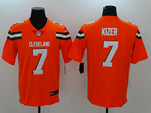 Mens Nfl Cleveland Browns #7 Deshone Kizer Orange Vapor Untouchable Limited Jersey