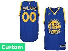 Mens Womens Youth Nba Golden State Warriors (custom Made) Blue Swingman Road Jersey