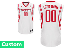 Nba Houston Rockets (custom Made) White Road Jersey
