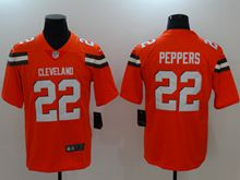Mens Nfl Cleveland Browns #22 Peppers Orange Vapor Untouchable Limited Jersey