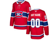 Mens Women Youth Montreal Canadiens Custom Made Red Home Premier Adidas Jersey