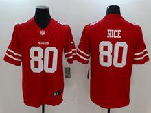 Mens Women Nfl San Francisco 49ers #80 Jerry Rice Red Vapor Untouchable Limited Jersey