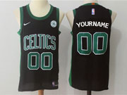 Mens Nba Boston Celtics Custom Made Black Green Number Nike Jersey