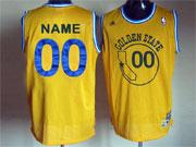 Mens Nba Golden State Warriors Custom Made Yellow Hardwood Classics Swingman Jersey